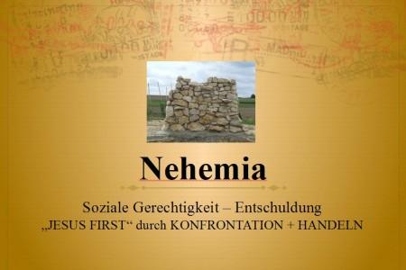 Nehemia, soziale Gerechtigkeit und Entschuldung
