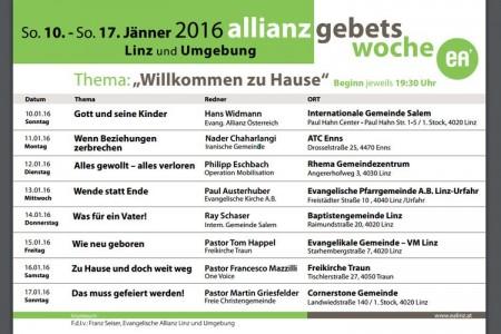 Allianzgebetswoche 2016