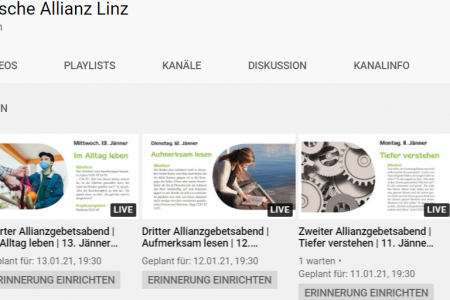 Allianzgebetswoche 2021 online